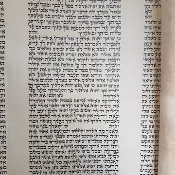 "Picture of Torah scroll ""beit yossef"" writing"
