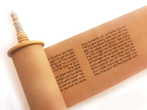 Picture of Meguilat Esther on leather