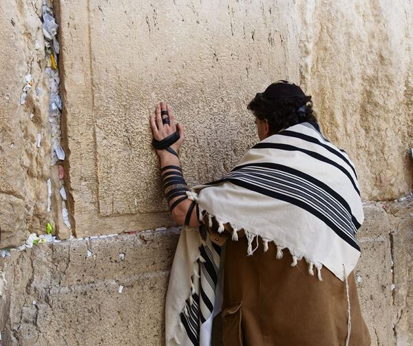 Picture of יהודי מתפלל בכותל המערבי